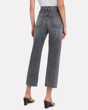 London High-Rise Straight Leg Jeans, GREY, hi-res