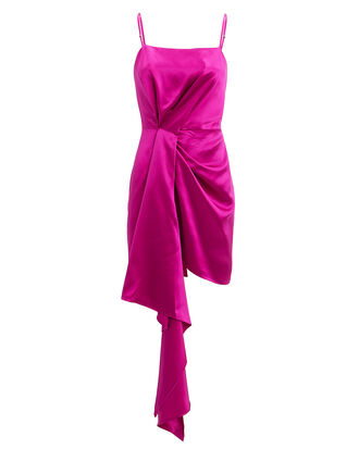 Cascade Pink Satin Dress, PINK, hi-res
