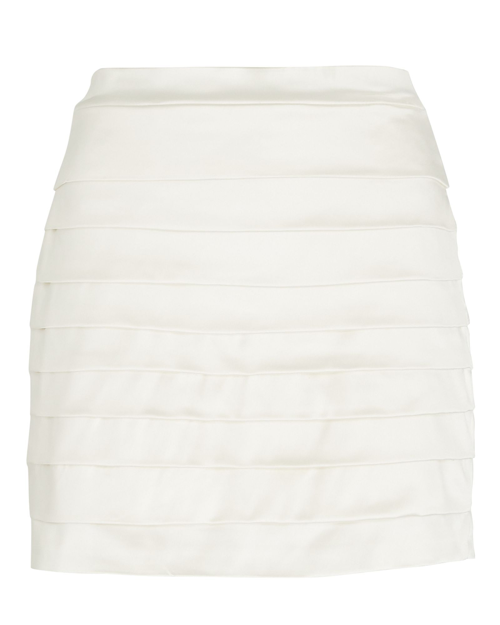 Anabelle Ruched Mini Skirt, WHITE, hi-res