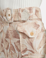 Super Eight Linen Safari Pants, ECRU, hi-res