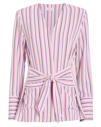Selma Striped Blazer, PINK STRIPE, hi-res