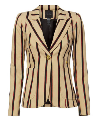 Duchess Oxford Stripe Blazer, BEIGE, hi-res