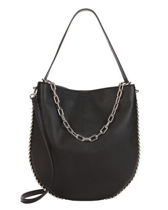 Roxy Black Leather Hobo, BLACK, hi-res