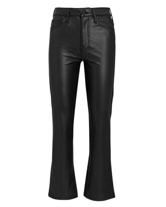 The Insider Ankle Faux Leather Jeans, BLACK, hi-res