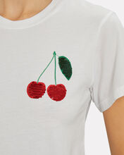 Sequined Cherries T-Shirt, WHITE, hi-res