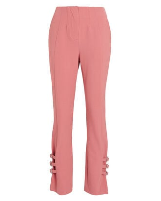 Wool-Blend Buckled E-Cig Trousers, BLUSH, hi-res