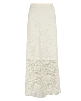 Lace Maxi Skirt, IVORY, hi-res