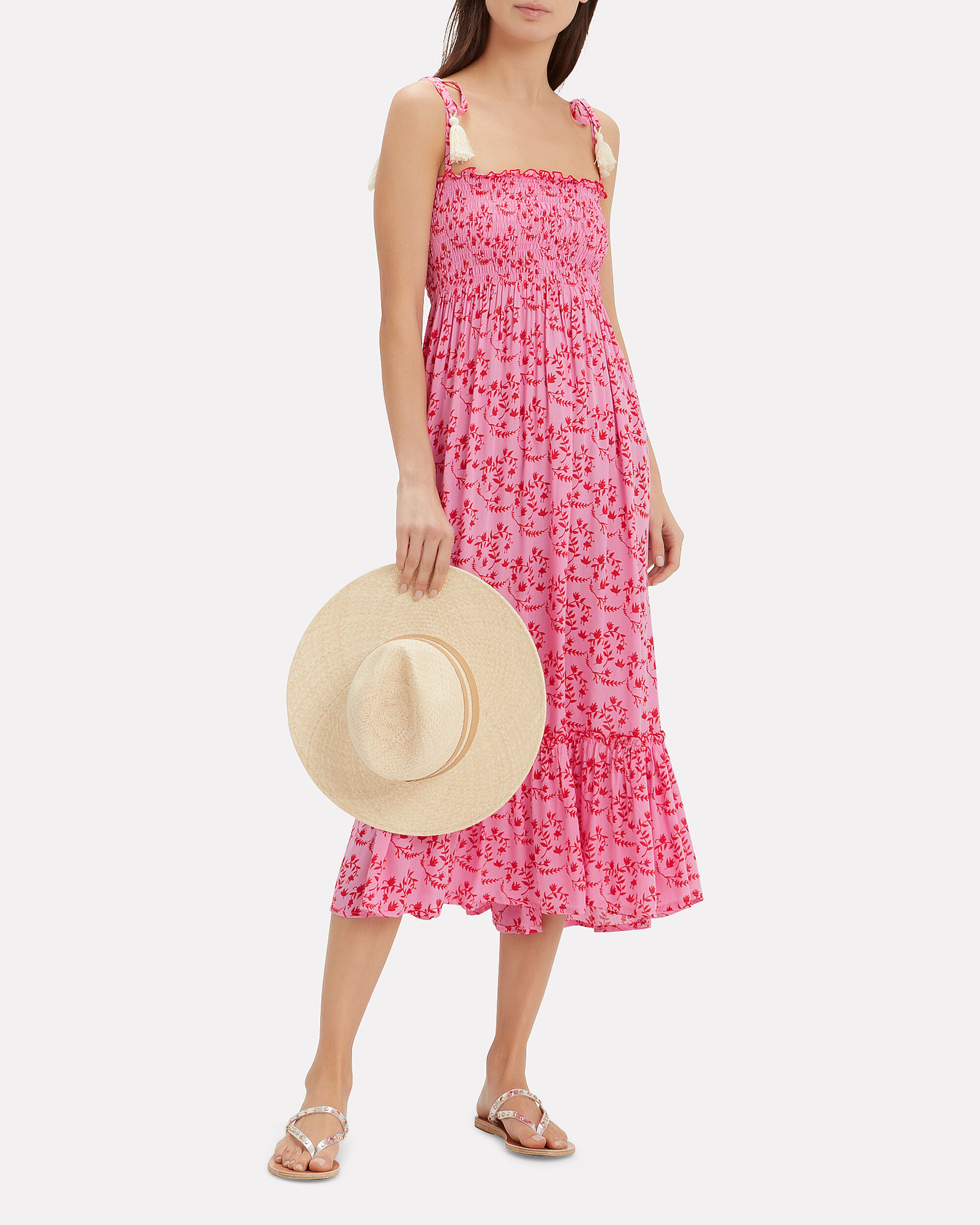 Piper Floral Dress, PINK, hi-res