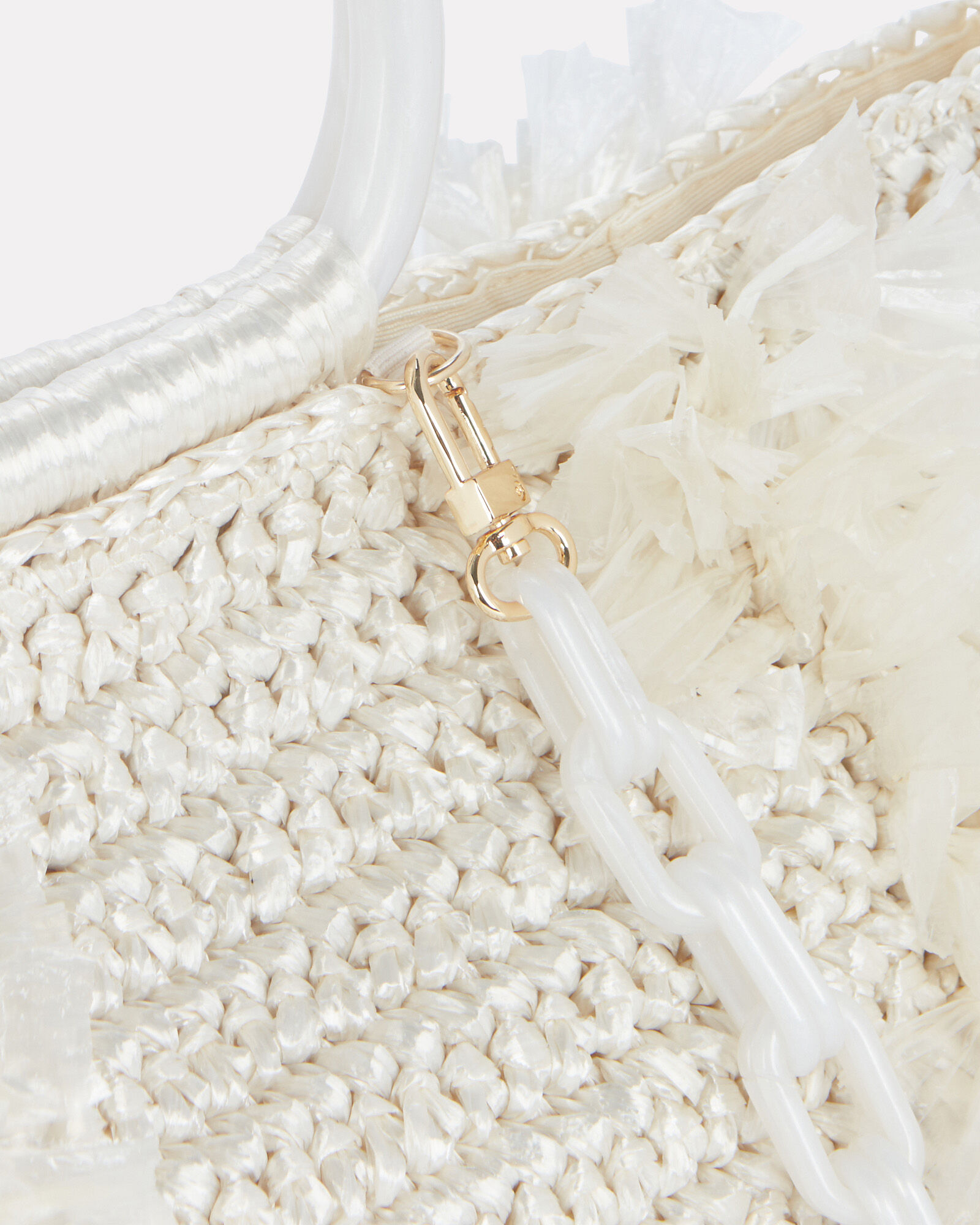 Corallina Fringed Straw Tote, IVORY, hi-res