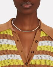 Reese Mixed Metal Herringbone Necklace, SILVER/GOLD, hi-res
