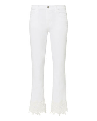 Selena Lace Crop Jeans, WHITE, hi-res