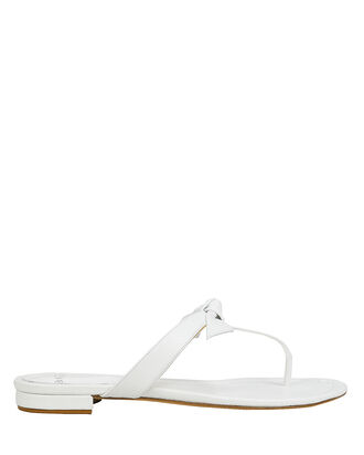 Clarita Naked Flat Sandals, WHITE, hi-res