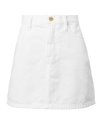 Le White Mini Skirt, WHITE, hi-res