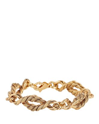 Lola Twisted Chain-Link Bracelet, GOLD, hi-res