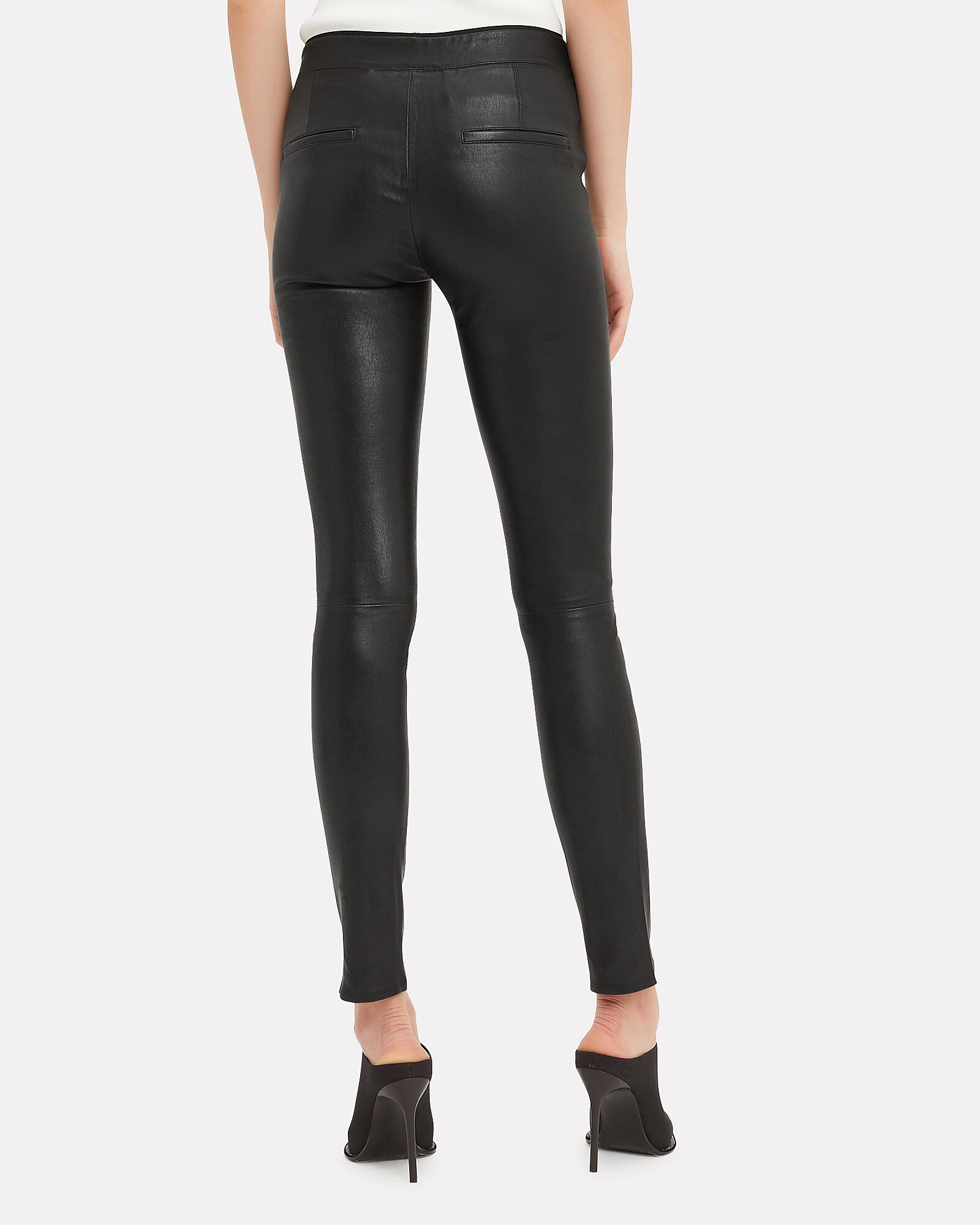 Black Leather Leggings, BLACK, hi-res
