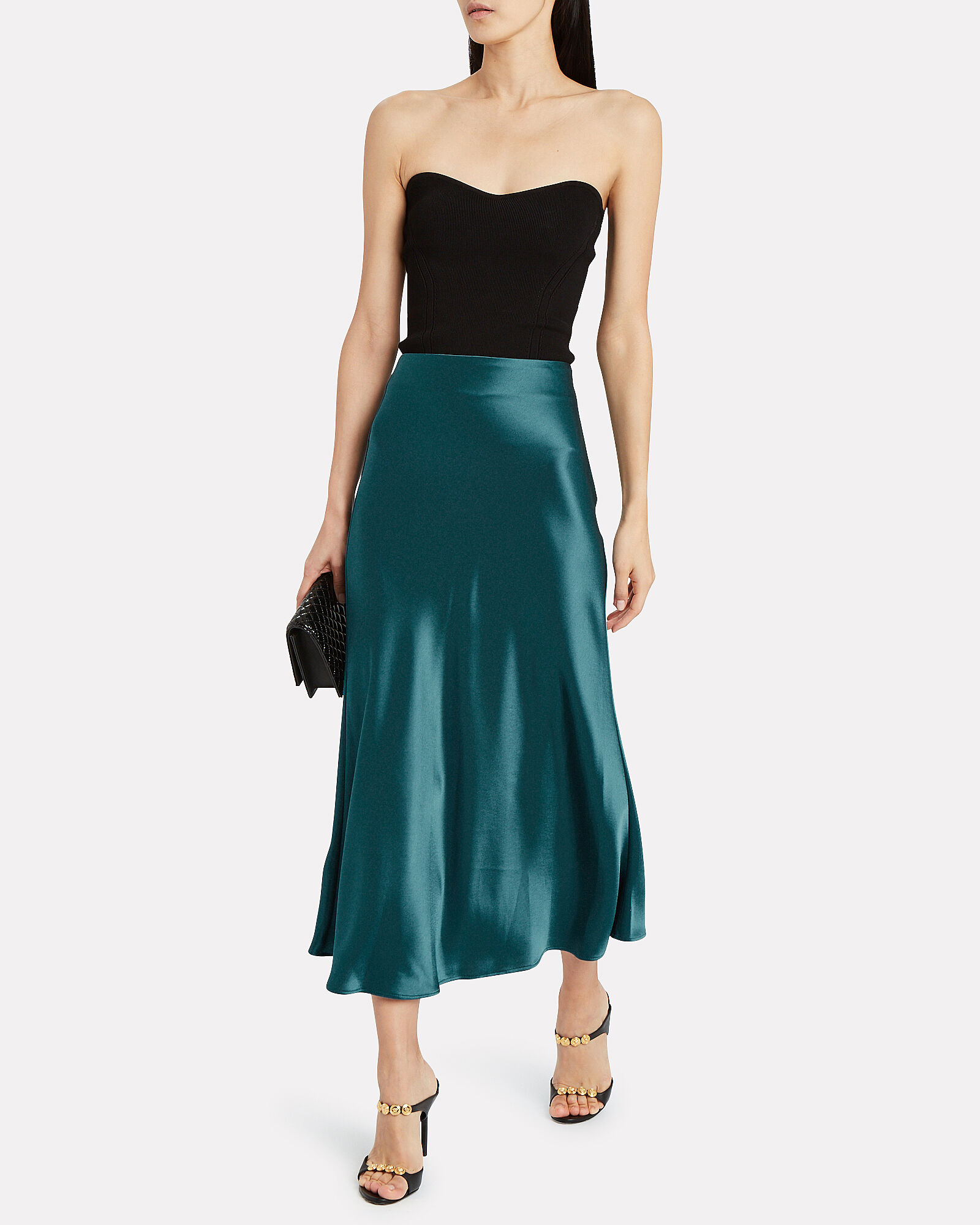 Valletta Satin Midi Skirt, BLUE-MED, hi-res
