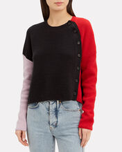 Duprie Colorblock Sweater, BLACK, hi-res