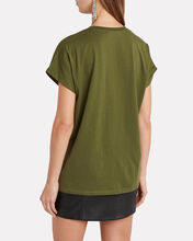 Logo Cotton Crewneck T-Shirt, OLIVE, hi-res