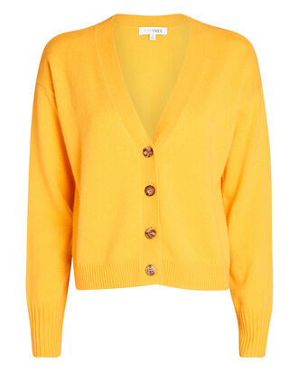 Roya Cashmere Cardigan, ORANGE, hi-res