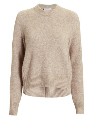 Brown High-Low Sweater, BROWN, hi-res
