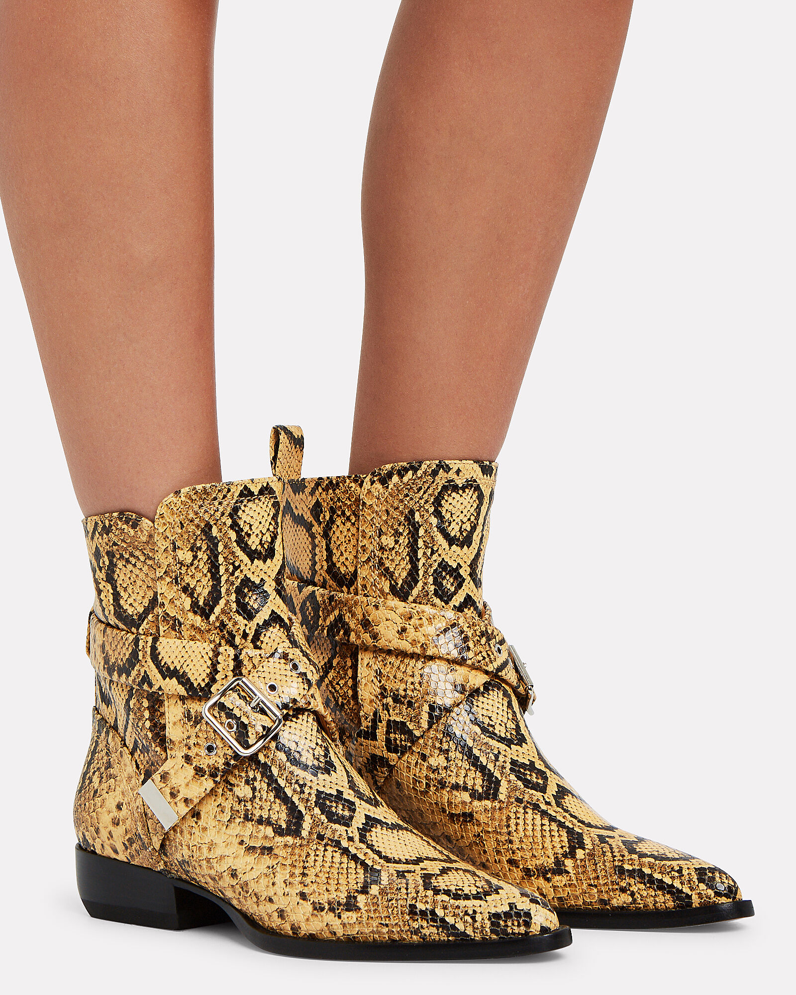 Rylee Lace-Up Leather Ankle Boots, YELLOW/BLACK, hi-res