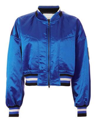 Lapis Blue Bomber Jacket, BLUE-MED, hi-res
