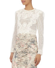 Bowerbird Lace Top, IVORY, hi-res