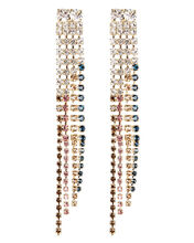 Sublime Crystal Fringe Earrings, CLEAR, hi-res