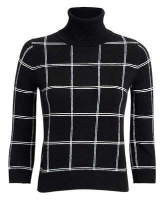 Manhattan Grid Check Turtleneck, BLACK/WHITE, hi-res