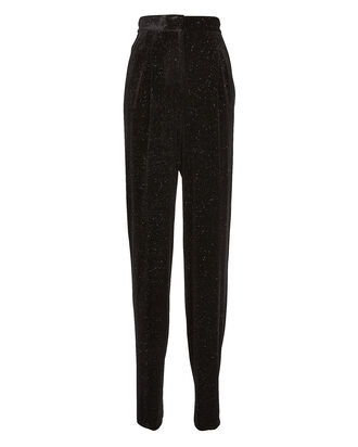Mary Velvet Shimmer Trousers, BLACK, hi-res