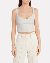 Felicia Cropped Bustier Top, IVORY, hi-res