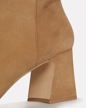 Corella 60 Block Heel Suede Booties, BROWN, hi-res