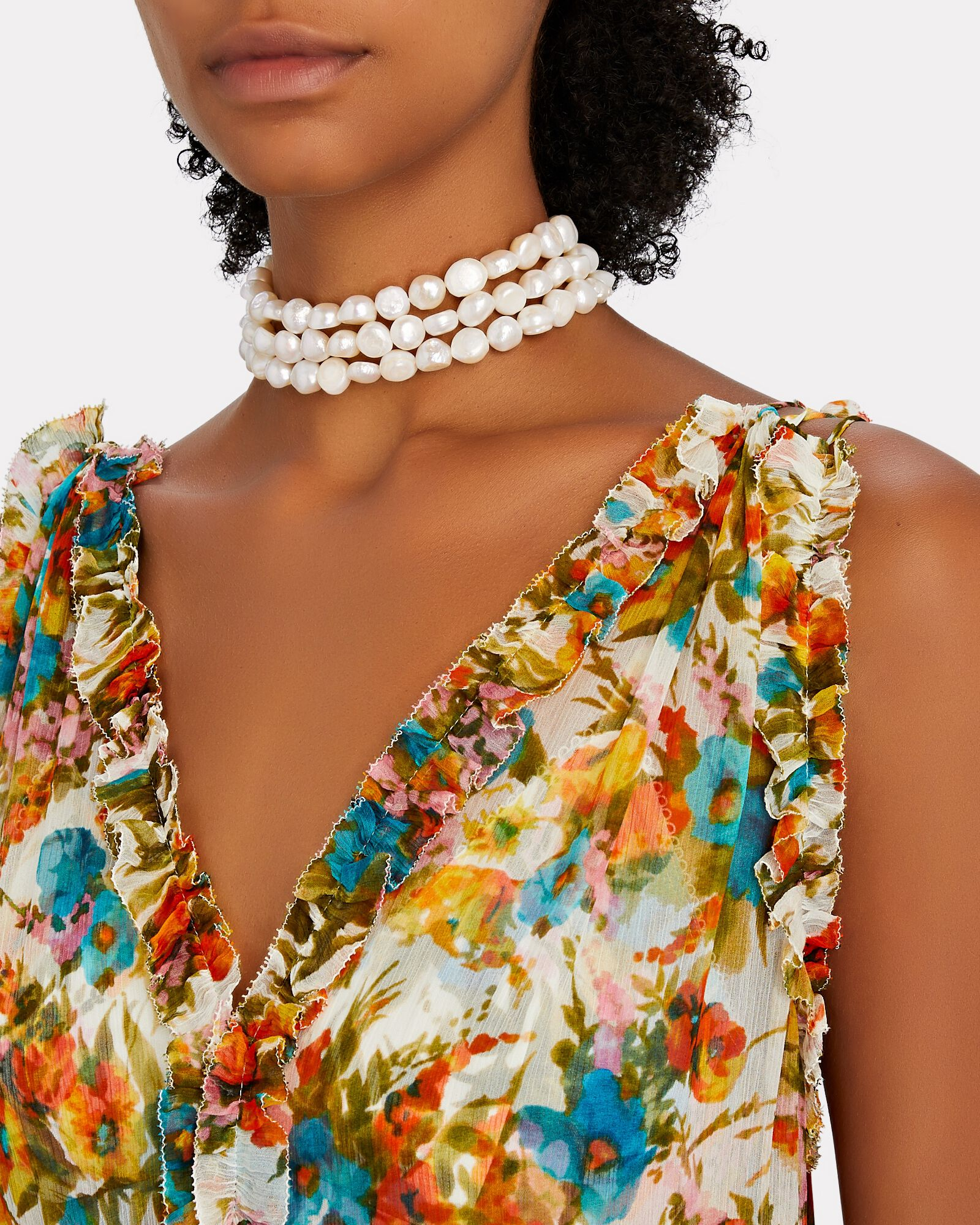 Nora Pearl Choker Necklace, WHITE, hi-res