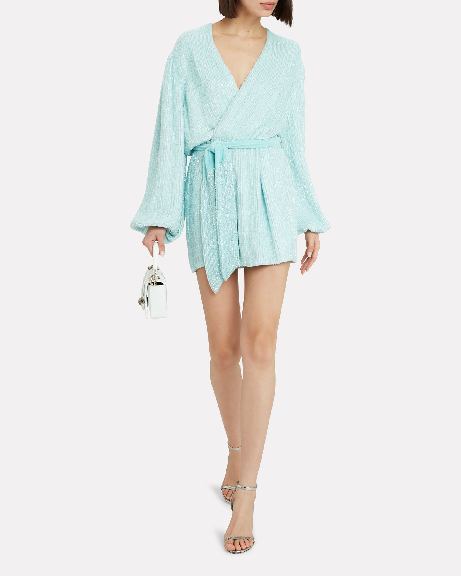 Gabrielle Sequin Mini Dress, SKY BLUE, hi-res