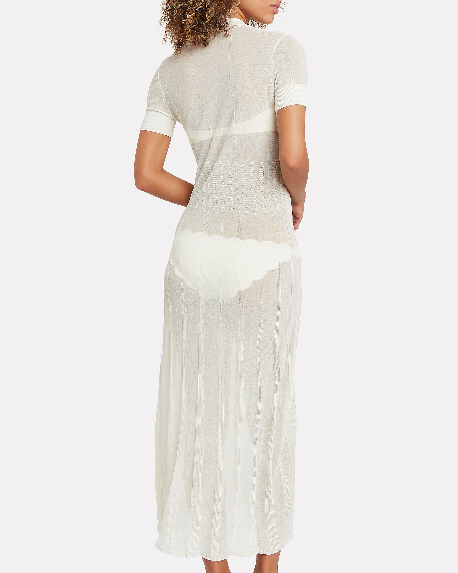 Eliza Mesh Cover-Up, WHITE, hi-res