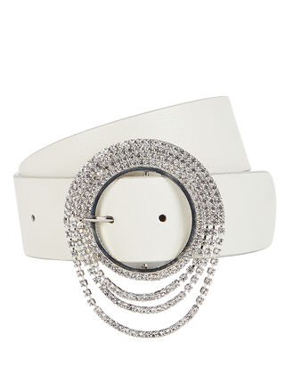 Lilia Clara Crystal Buckle Belt, IVORY, hi-res
