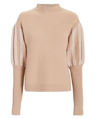 Puff Sleeve Sweater, BLUSH, hi-res