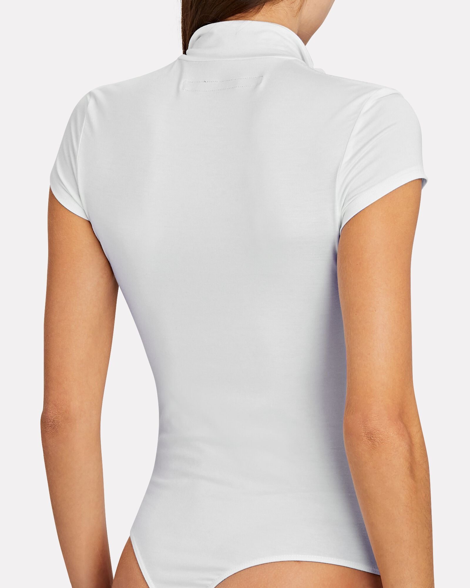 Zip-Front Bodysuit, WHITE, hi-res