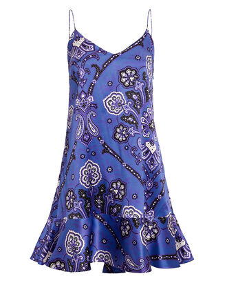 Tina Paisley Slip Dress, BLUE/PAISLEY, hi-res