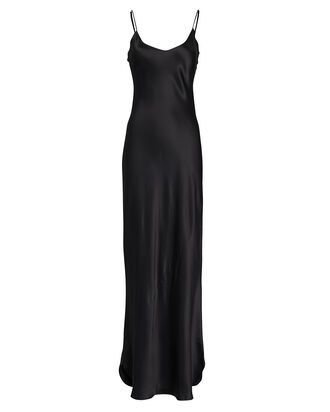 Maxi Silk Slip Dress, , hi-res