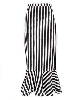 Portia Stripe Maxi Skirt, BLACK/WHITE, hi-res