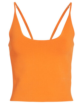 Ava Knit Tank Top, TANGERINE, hi-res