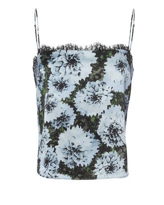 Lace Trim Blue Floral Cami, MULTI, hi-res