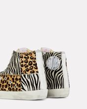 Francy Leopard High-Top Sneakers, LEOPARD/ZEBRA, hi-res