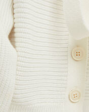 Tie Back Knit Cardigan, IVORY, hi-res