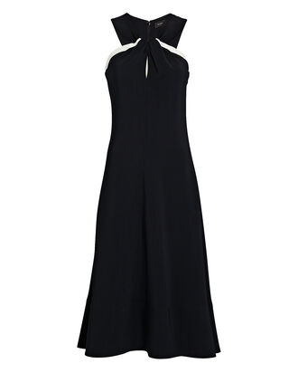 Twisted Cady Midi Dress, BLACK, hi-res