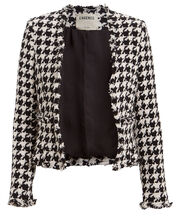 Adette Tweed Houndstooth Jacket, MULTI, hi-res