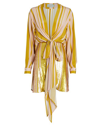 Getrude Sequin Combo Mini Dress, BLUSH/MUSTARD, hi-res