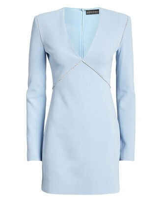 Embellished Crepe Mini Dress, POWDER BLUE, hi-res