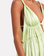 Jade Tiered Silk Charmeuse Gown, MINT, hi-res